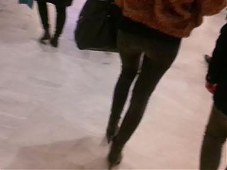Great fur girl in mall