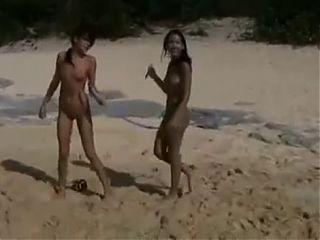 Amia and Tanner - Cute teens having fun on a nude beach