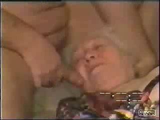 Cumming in mouth of old slut grandma. Amateur Older