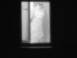 caught neighbors couple ready for sex in the dark window