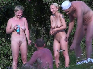 Cute saggy nudist