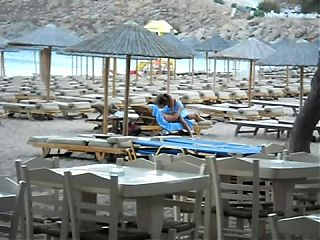 couple caught having sex on the public beach