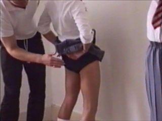 Schoolgirl bottom smacked