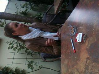 Lisa smoking candid2