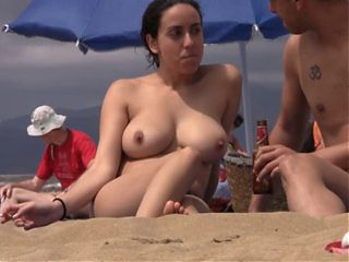 Girl putting sunscreen on her boobs 6