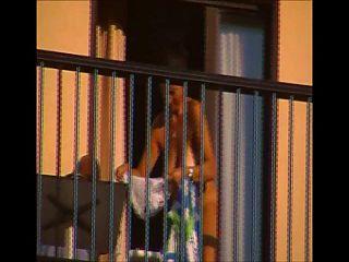 caught naked on balcony