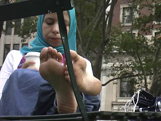 Arab hijab feet and soles