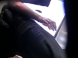 Upskirt milf escalator