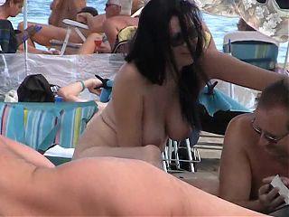 Sexy boobs at Cap D Agde Nude beach