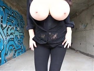 MILF with huge natural tits