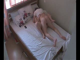 Hot young couple making love