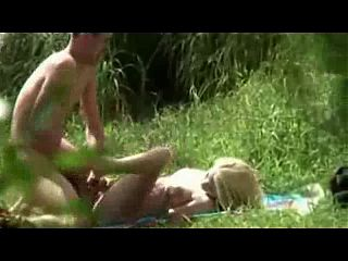 Voyeur - Blonde outdoor fucking